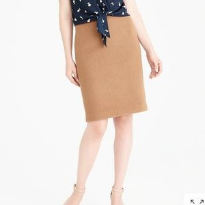 J.Crew Wool Pencil Skirt Camel 00